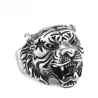 Cool Tiger Ring Retro titán acél ujj gyűrű a mindennapi használatra