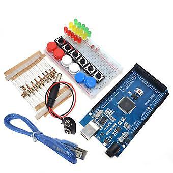 Smart electronics integrated starter kit mega 2560 mini breadboard led jumper wire button for arduino kit compatile