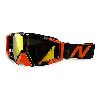 Nitro NV-100 Motocross Protective Goggles Orange