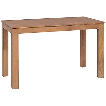 طاولة طعام vidaXL خشب صلب مع الانتهاء الطبيعي 120×60×76 سم