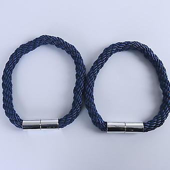 8色シンプルなカーテンツイスト磁気スナップカーテン包帯ロープ