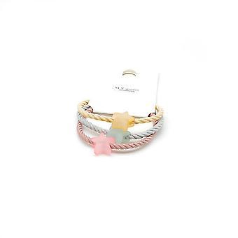 10SET 3pcs /SET in Handmade Jelly colore ragazze carine stella luna arco super elastico filo band metallo