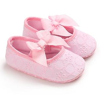 Baby girl shoes flower lace cotton bottom