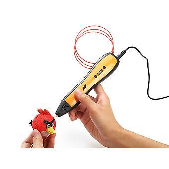 3D-Druckstift Kinderzeichnungsstift mit LCD-Bildschirm, (gelb)
