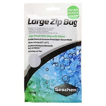 """Seachem Large Mesh Zip Bag  - 1 count (19""""L x 17""""W)"""