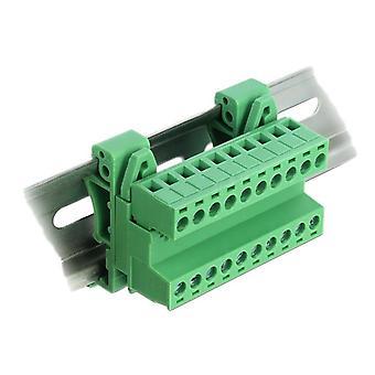 Ensemble de borniers de verrouillage pour rail DIN 10 broches avec angle de pas de 5,08 mm