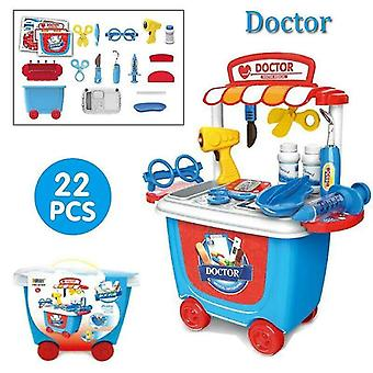 Toy kitchens play food doctor-22pcs set kids simulation ice cream shop role play toy set