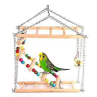 Bird Toy Parrot Toy Swing Ladder Climbing Double Staircase Bird Toy