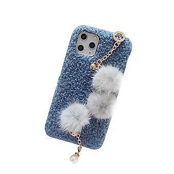 Compatible avec l'iPhone 11 Cas , Peluche Ball Bracelet Cas pour 6.1 pouces