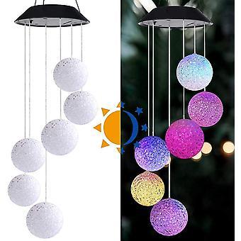 Solar LED WindSpiel Farbe wechselndes Licht geeignet für Gartendekoration