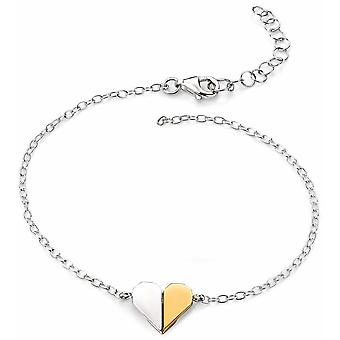 Pulsera corazón plateado oro plata 925