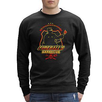 Fireballs BBQ Running Man Men's Sweatshirt