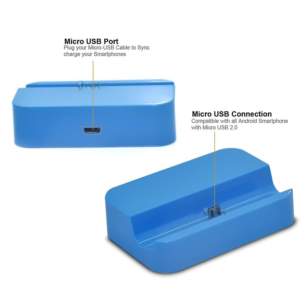Huawei Y635 Desktop USB Base Stand Data Sync Charging Dock Station (Blue)