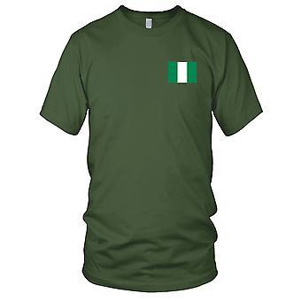 Drapeau National du pays de Nigeria - Logo - brodé 100 % coton T-Shirt Kids T Shirt