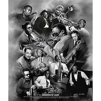 Legenden des Jazz Poster Print von Wishum Gregory (20 x 24)