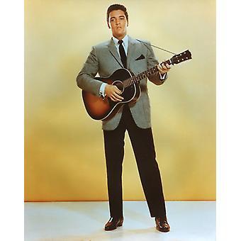 Elvis Presley Studio Photo - Holding a Guitar (8 x 10)
