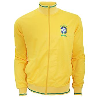 Brasil CBF Mens Official Athletic Football Crest Jacket