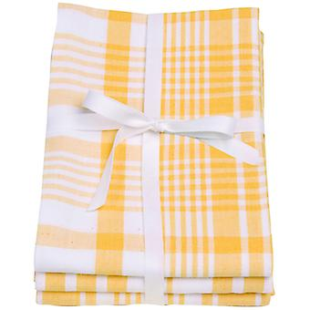 Love Colour Set of 3 Tea Towels, Sunflower