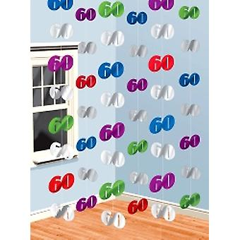 60 hängande sträng dekorationer Pack 6