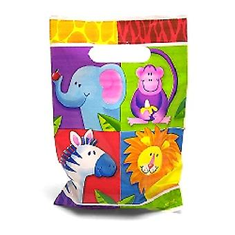 Jungle Party Loot Sacs Pack 8