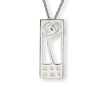 Silver Scottish Charles Rennie Mackintosh Glasgow Rose käsi työnä kaula koru riipus-P270