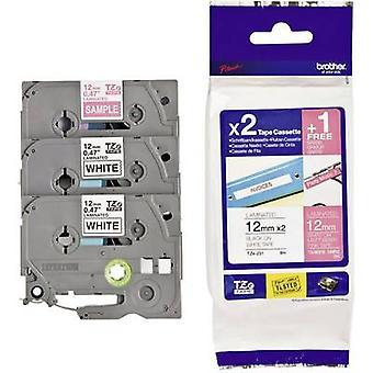 Etichettatura nastro 3 pezzi set Brother TZe, colore nastro TZ TZe - 32M 3: bianco, rosa Font colore: nero, bianco 12 mm 8 m