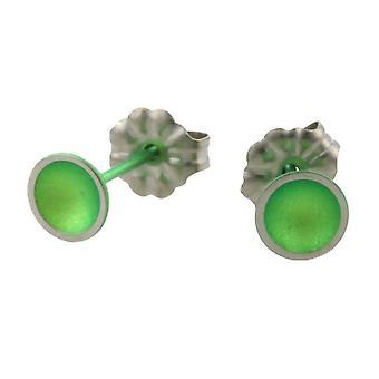 TI2 Titanium kleine Kuppel Ohrstecker - frisches Grün