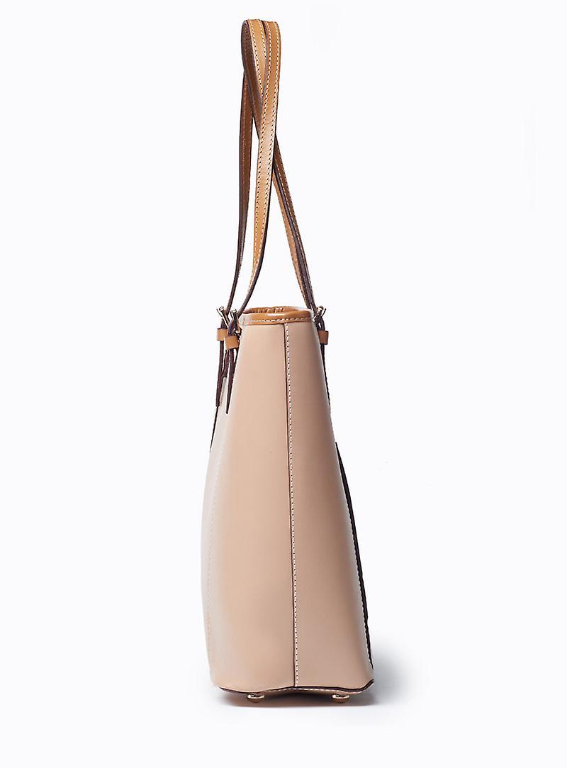 Viver Large Leather Tote Bag Venus Nude