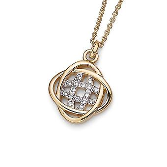 Oliver Weber Pendant Polar Gold/Rhodium Crystal