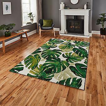 La Havane pense 8598 Rectangle vert tapis tapis Funky