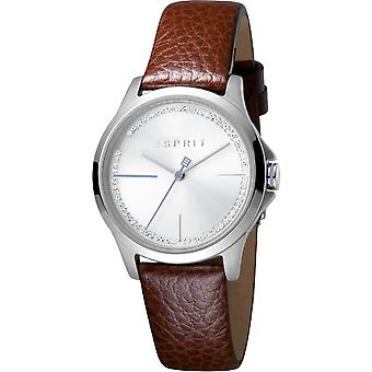 ESPRIT Damenuhr Uhren Freude Silber braun analog Quarz