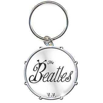 The Beatles Keyring Keychain 1963 Bug Band Logo Drum new Official Metal