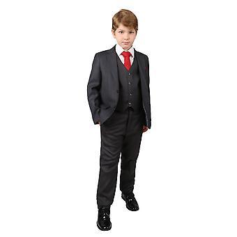 Темно-серый мальчиков регулярно подходят свадьба Pageboy костюм