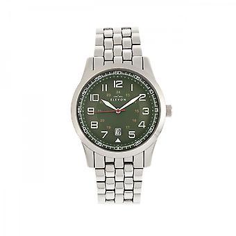 Elevon Garrison Bracelet Watch w/Date - Silver/Green