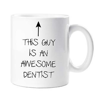 هذا الرجل هو قدح طبيب أسنان ممتاز
