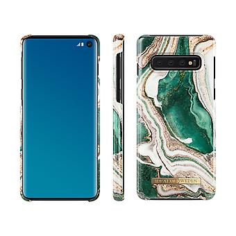 iDeal Of Sweden Samsung Galaxy S10-Golden Jade Marbre