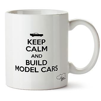 Hippowarehouse holde ro og bygge modell biler trykte krus kopp keramiske 10 Unzen