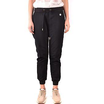 Elisabetta Franchi Ezbc050154 Women's Black Cotton Joggers