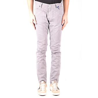 Jeckerson Ezbc069033 Men's Grey Cotton Jeans