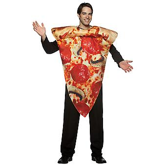 Get Real Pizza Slice Fast Food Italian Footy Match Food Party Mens Costume OS