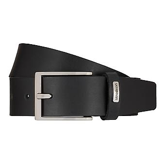 Strellson jeans belt men belt cowhide leather belt black 7926