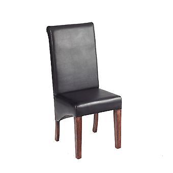 Phoenix Dark Mango Leather Dining Chair  - A Pair