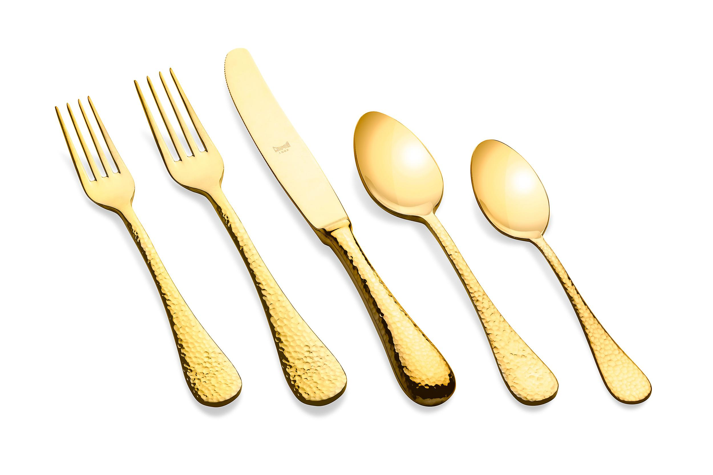 Mepra Epoque Oro 5 pcs flatware set