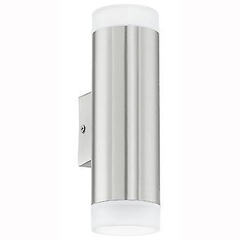 Eglo Riga LED Exterior arriba y abajo de la lámpara de pared