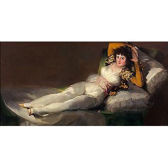 The Clothed Maja, Francisco de Goya y Lucientes, 80x40cm