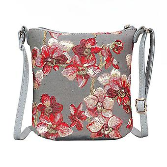 Orchid shoulder sling bag by signare tapestry / sling-orc