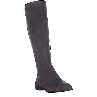 Nueve mujeres West Owenford cuero puntiagudo dedo del pie hasta la rodilla moda botas