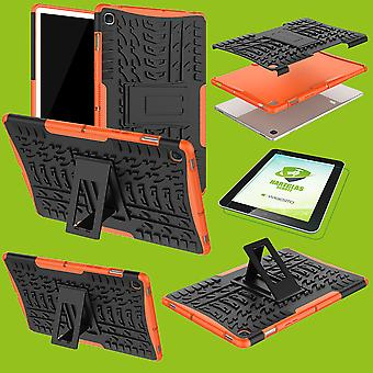 For Samsung Galaxy Tab S5e 10.5 T720F Hybrid Outdoor Cover Orange Bag + 0.3 H9 Protective Glass