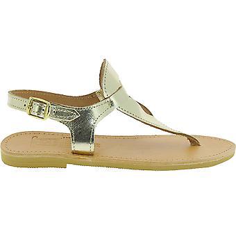 Attica Sandali 5044 Donne's Flip in pelle oro