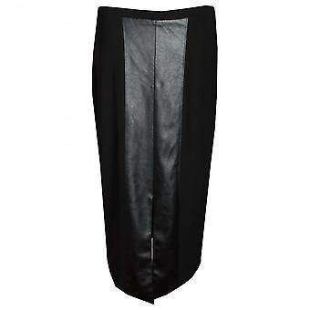 Frank Lyman faux läder lång rak kjol